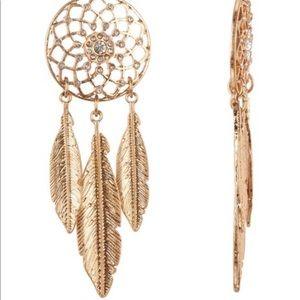 Dream Catcher Statement Dangle Earrings